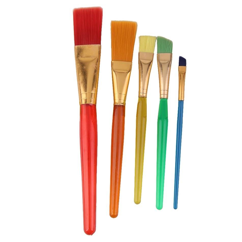 キャップ活性化頻繁にdailymall キッズクラフトナイロンペイントブラシセット5個入り多色