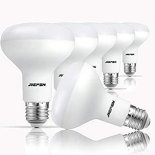 REPSN® Pack de 6 bombillas LED E27 de 13,5 W, luz blanca fría, 6000 K, reflector, R80, repuesto para bombillas halógenas de 100 W, 1150 lúmenes, ángulo de haz de 120°, bombillas LED