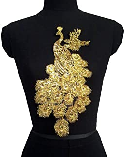 Light Gold Stickerei Spitze Applique Blumenstoff Lace Trim Sewing Clothes Patch