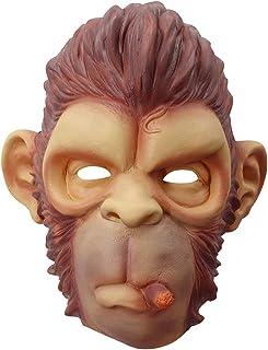 Amosfun Smoke Monkey Full Head Mask Creepy Party Halloween Costume Party Latex Monkey Latex Head Mask for Adults and Kids