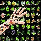 HOWAF Halloween Tatuajes Temporales Niños Falso Pegatinas de Tatuaje 96 piezas Luminosos Tatoos Infantiles, Niñas Niños Regalos Para Halloween de Fiesta Cumpleaños Infantiles