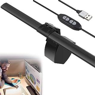 ライフ小屋 モニター掛け式ライト pc デスクライト LEDライト 読書ナイトライト 三段階調光 明るさ調整可能 USB充電 目に優しい クリップ式 ライト モニター ライト スクリーン 掛け式 ライト デスクライト 仕事 卓上 読書 PC作業