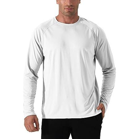 TACVASEN Men's Lightweight UPF 50+ Long Sleeve T-Shirt Outdoor Sun UV Protection Tee Top