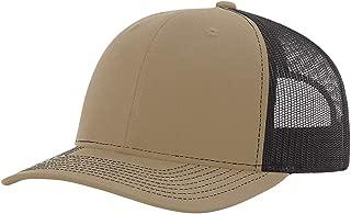 Twill Mesh Back Trucker Snapback Hat -- Khaki/Coffee