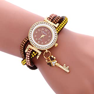 Bracelet Watches for Women DYTA Ladies Watches with Faux Leather Band Silver Case on Clearance Under