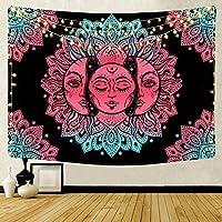 HYTGD-タペストリー 壁掛プリントタペストリー壁掛け太陽壁タペストリースローラグブランケット壁布カーペット家の装飾