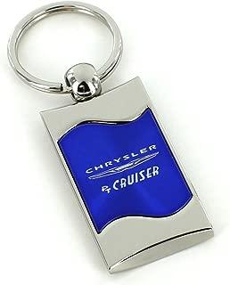 Au-TOMOTIVE GOLD Compatible Keychain and Keyring for Chrysler PT Cruiser [KC3075.PTC.BLU] - Blue Wave
