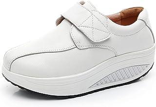 rismart Donna Cuneo Hook & Loop Comodo Carino Pelle Addestratore Scarpe Sneaker