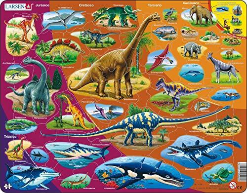 Larsen HL1 Historia Natural - Período Triásico hasta Hoy, edición en Español, Puzzle de Marco con 85 Piezas