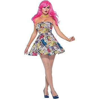 Forum Novelties 76718 Pop Art vestido (UK 10 – 12): Amazon.es ...