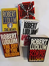 Set of 5 Suspense Thrillers by Robert Ludlum: The Road to Omaha, The Matarese Countdown, The Cry of the Halidon, Apocalypse Watch, and The Scorpio Illusion