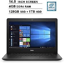 2019 Newest Premium Dell Inspiron 14 3000 Laptop (Intel Core i3-8145U up to 3.9GHz, 4GB DDR4 RAM, 128GB SSD (Boot) + 1TB HDD, Intel UHD 620, WiFi, Bluetooth, HDMI, Windows 10 Home, Black)