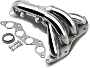 DNA motoring HDS-HC01DX Stainless Steel Exhaust Header Manifold - coolthings.us