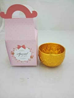 thaisan7, Small Gold Color Bowl Water Drinking Thai Antique Collection +Pink Gift Box