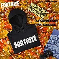 Fortnite Felpa con Cappuccio da Bambino, Prodotto Ufficiale | Felpa da Bambini E Ragazzi, Sweatshirt di Cotone | Regalo per Videogiocatore (Nero, 13_Years) #1