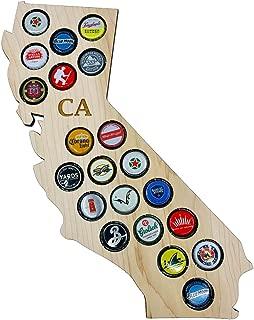 CreaTech Wooden Beer Cap Decor Collectors Holder - California CA 21 Beer Cap Display