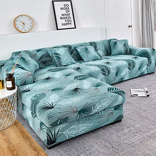 ASCV Fundas de sofá en Forma de L para Sala de Estar Fundas elásticas para sofá Funda de sofá elástica Toalla de Esquina Funda de sofá A5 4 plazas