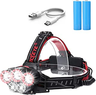 Head Torch – Victoper Super Bright Headlight LED Rechargeable with 5 Lights 6 Modes, Super Bright LED Head Lamp