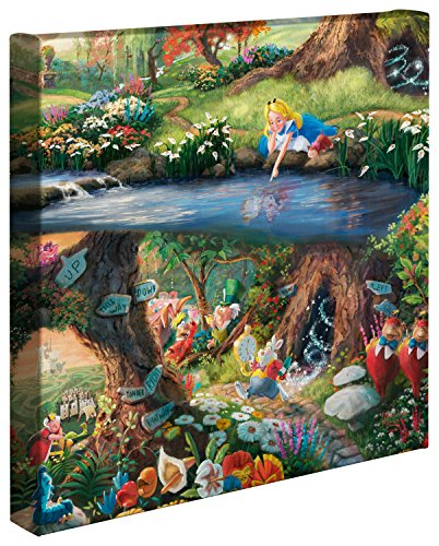 Thomas Kinkade, Tela rappresentante Alice nel paese delle meraviglie, 14cm x 14cm