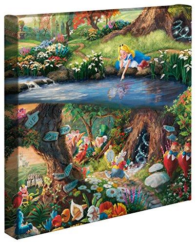 """Thomas Kinkade Studios - Lienzo con imagen de """"Alicia en el país de las maravillas""""..."""