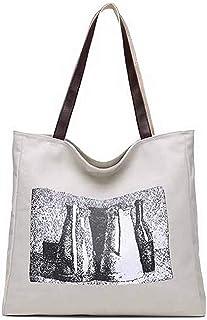 Shoulder Bag Women's Weekend Getaways Canvas Shoulder Bags Tote Bags Handbag Clutch (Color : Beige, Size : One Size)