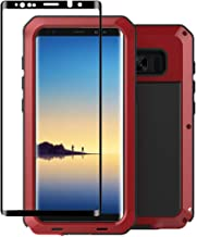Galaxy Note 8 Case,Tomplus Armor Tank Aluminum Metal Shockproof Military Heavy Duty Protector Cover Hard Case for Samsung Galaxy Note 8 (Red)