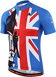 BIYINGEE Men's Cycling Jersey Short Sleeve with Reflective Stripe