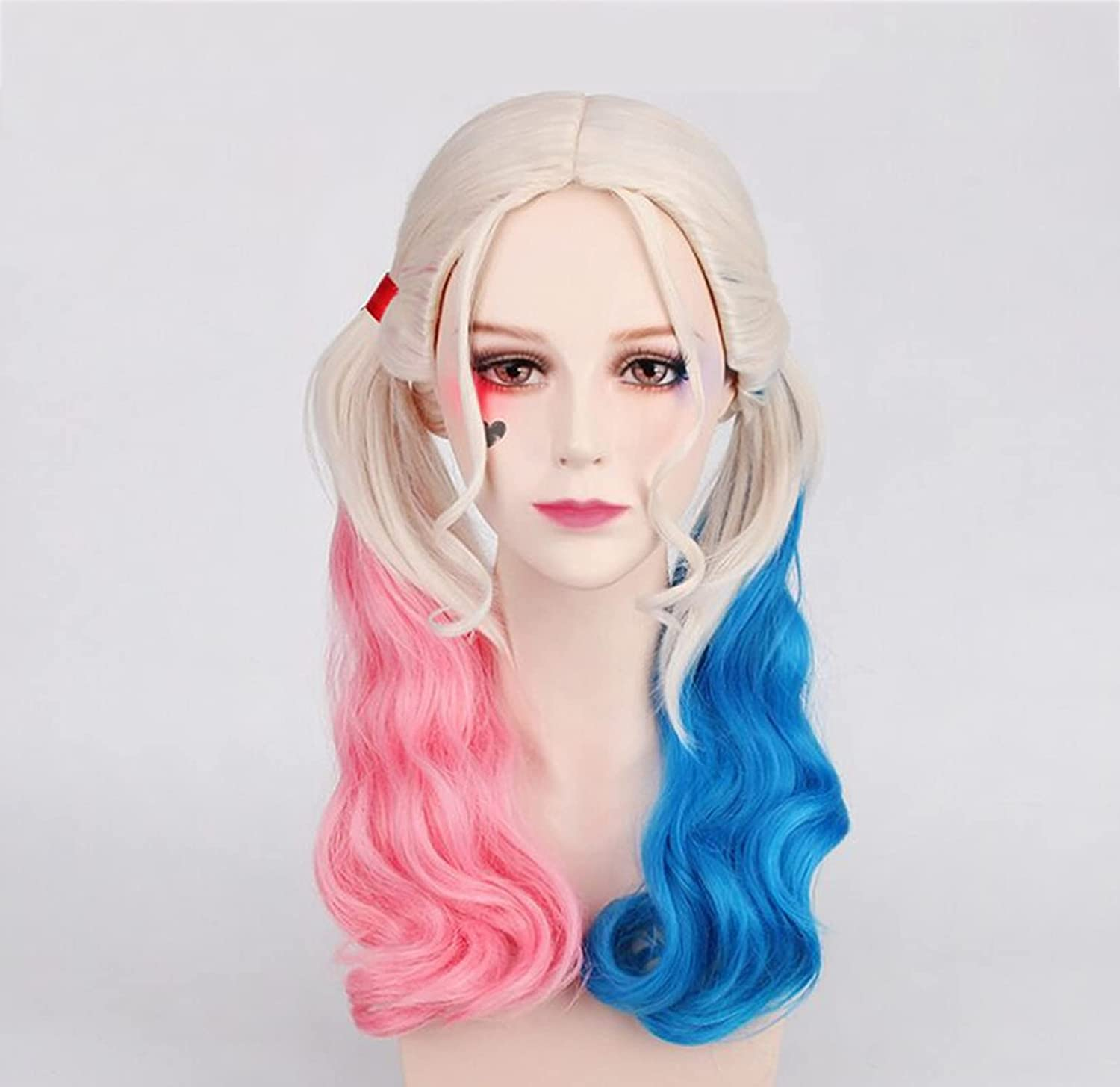 METIME Movie Cosplay Cheap mail order sales Wig White Elegant Blue Ponytail Pink Double
