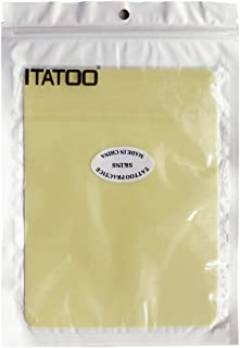 ITATOO 10pcs Double Sizes Blank Thick Tattoo Practice Skin for Beginners and Experienced Artists 7.5 x 5.7 Inches