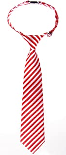 Retreez Striped Woven Pre-tied Boy's Tie - Red and White Stripe - 4-7 years