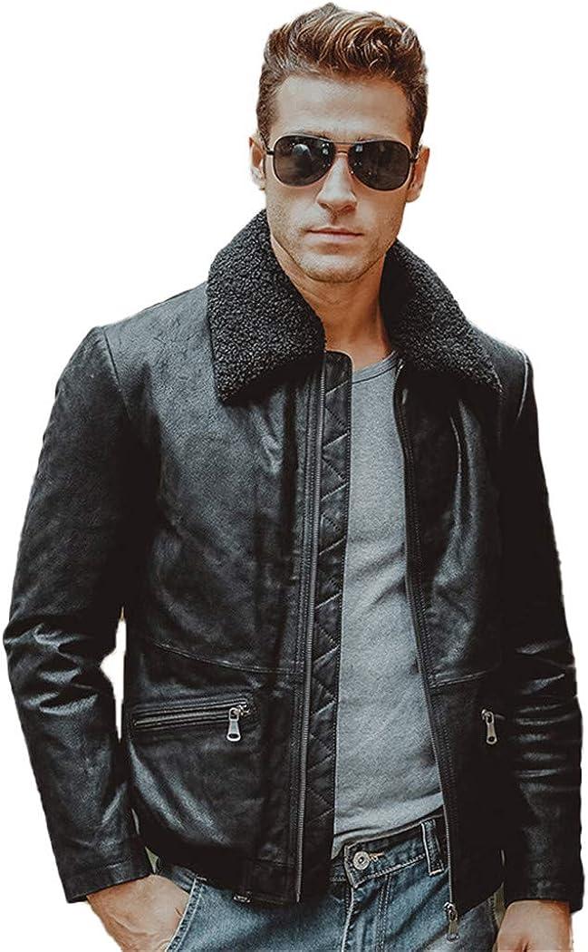 Men's Real Leather Jacket Jac Genuine Motorcycle Max 82% OFF Pigskin depot