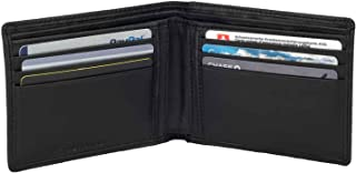 Wallet by DiLoro Italy Genuine Full Grain Nappa Leather Pocket Wallets RFID Safe