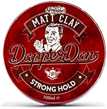 Strong Hold Matte Clay By Dapper Dan | Mens Hair Products Matte Finish | Smoked Saffron & Leather Fragranced Hair Clay For Men | Matte Finish Hair Pomade For Men | 100ml