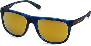 Arnette Crooked AN4235-2464/N0 Sunglasses Matte Blue Havana w/Brown Orange /24k Iridium Lens 56mm