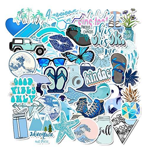BLOUR Girl Sticker On Laptop Animal Blue Vsco Stickers Pack Maleta Impermeable Juguetes para niños Graffiti Cool Sticker para niños 50pcs