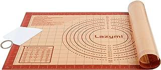 Lazymi Grand Tapis de Cuisson Pâtisserie en Silicone Antidérapant avec Mesure 60 x 40 cm, Anti-Adhérent Feuille de Cuisso...