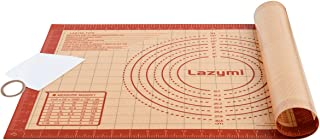 Lazymi Grand Tapis de Cuisson Pâtisserie en Silicone Antidérapant avec Mesure 60 x 40 cm, Anti-Adhérent Feuille de Cuisson...