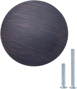 AmazonBasics Round Cabinet Knob, 1.57-inch Diameter, Oil Rubbed Bronze, 10-Pack