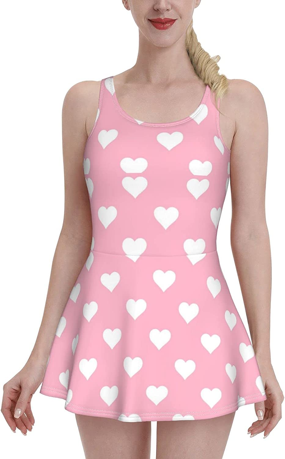 Cash special price Pink Kitten Ladies Ruffled One-Piece with Swimsuit Cheap mail order shopping St Adjustable