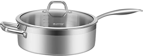 lowest Duxtop Professional Stainless-steel Induction lowest Ready Cookware Impact-bonded new arrival Technology (5.5 Qt Saute Pan) online