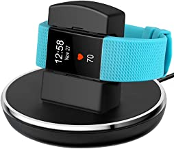 EPULY Compatible with Fitbit Charge 2 Charger, Compatible with Fitbit Charge 2 Charging Replacement Accessories Stand Dock Station 3 ft Charging Cable Smart Watch Black