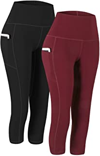 Fengbay 3 Pack High Waist Yoga Pants, Pocket Yoga Pants Tummy Control Workout.