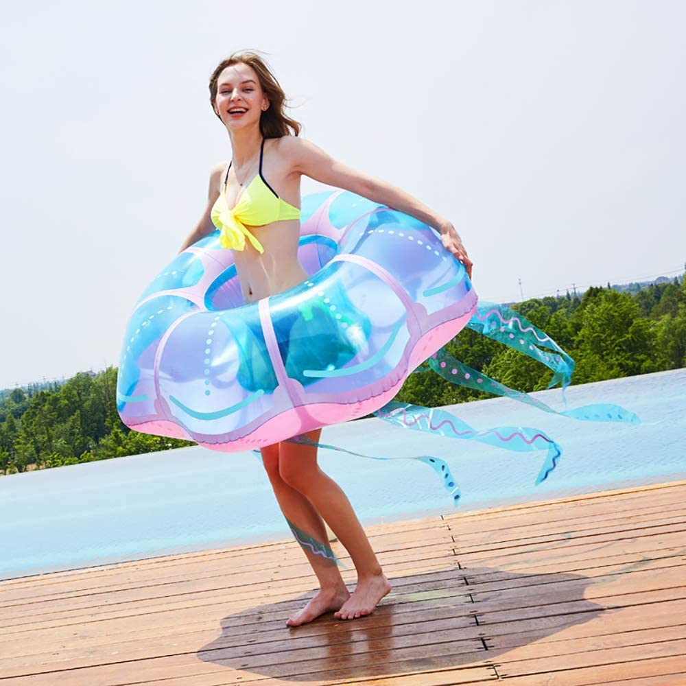 AA-SS Fashion Transparent Floating We OFFer at cheap prices Inflatable Overs Row Ride-Ons Financial sales sale