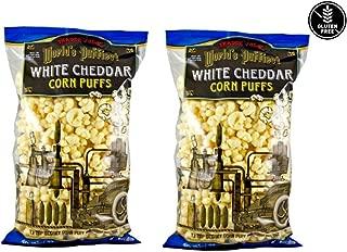 Trader Joe's World's Puffiest White Cheddar Corn Puffs: 2 Pack - 7 oz (198g)