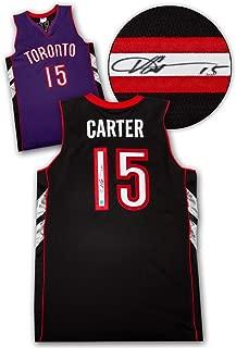 Vince Carter Signed Jersey - Purple Black Custom - Autographed NBA Jerseys
