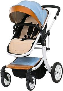Baby Strollers, Trolleys, Can Sit Reclining High Landscape Folding Light Stroller, Newborn Baby Stroller, Baby Car (Color : E)