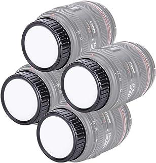4 delar baklinsskydd för Canon EOS EF EF-S monteringslinser DSLR kamerautrustning för Canon EOS 60D 70D 77D 80D 200D 600D ...