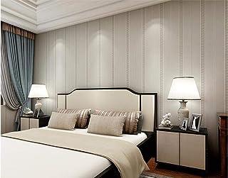 Papel tapiz no tejido papel tapiz simple sala de estar dormitorio raya vertical enrejado decoración papel pintado pinturagris claro