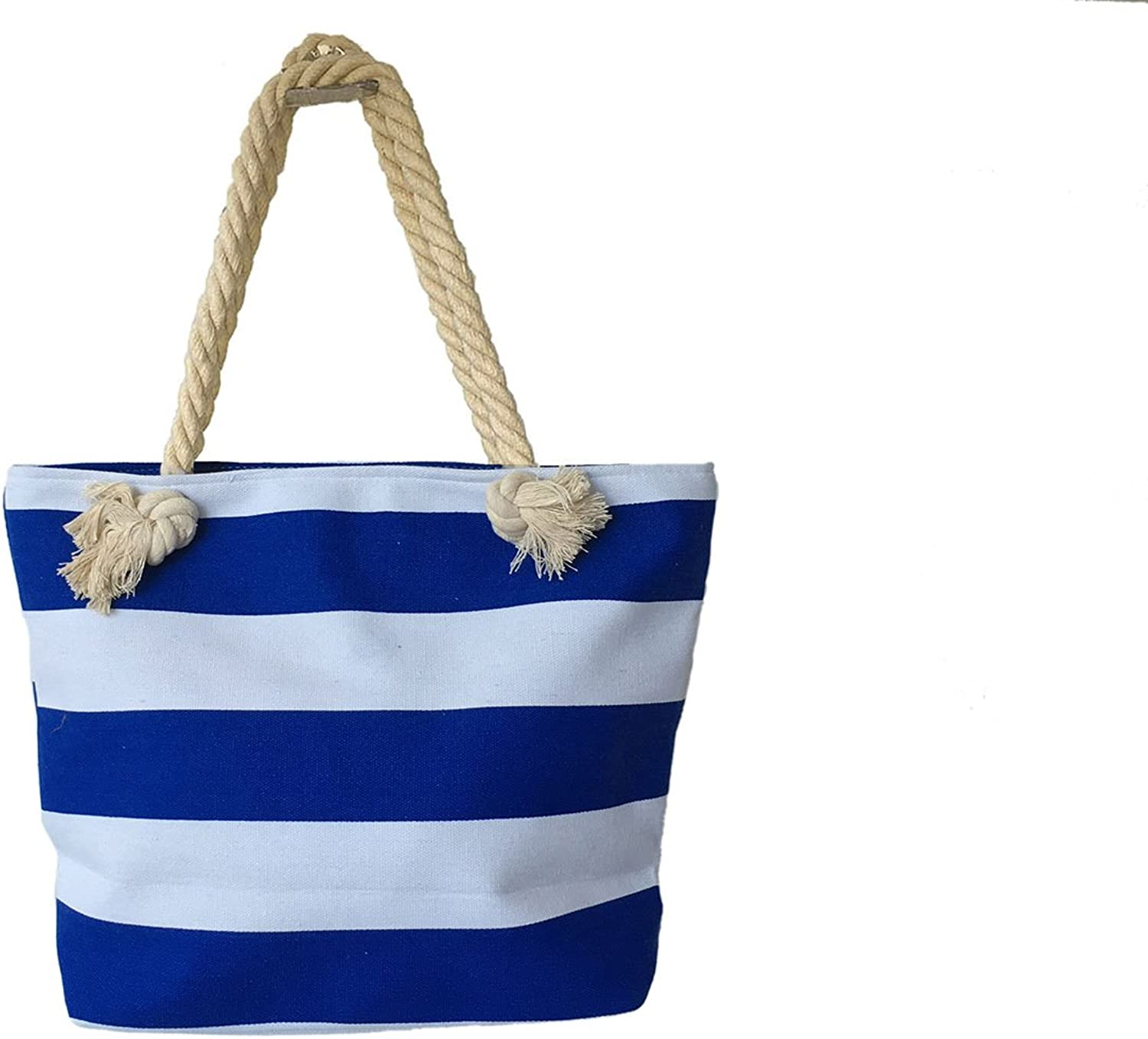 WannaDress Stripe Sturdy and Roomy Shoulder Tote Large Beach Bag for Women