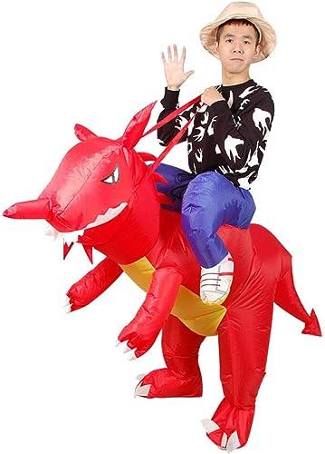 Ypyrhh BFaible Up Costume, VêteHommests gonflables Costume Dinosaure Costume D'été Costume HalFaibleeen Costume, Costume Masvoitureade Adulte Animal, Dinosaure Rouge Adulte